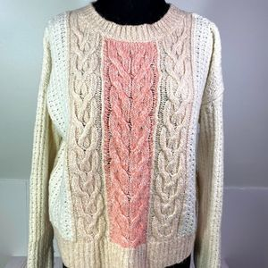 Sleeping On Snow Marie Cable Knit Sweater S